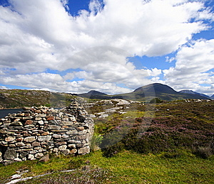 Old Ruin And Highlands Landscape Royalty Free Stock Image - Image: 8512706