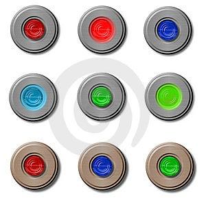 Retro Bottoni O Ribaltamenti Fotografie Stock Libere da Diritti - Immagine: 8513098