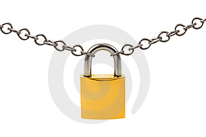 Lock And Chain Stock Image - Image: 8514221
