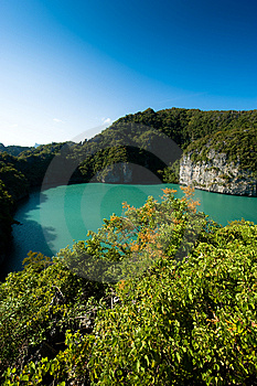Land Locked Lagoon Royalty Free Stock Photo - Image: 8514395