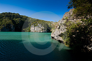 Land Locked Lagoon Royalty Free Stock Images - Image: 8514409