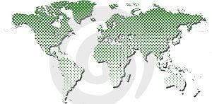 Halftone World Map. Stock Image - Image: 8514551