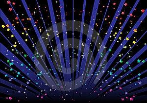Blast And Stars Royalty Free Stock Image - Image: 8514716