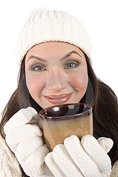 Drinking A Hot Beverage Stock Images - Image: 8515034