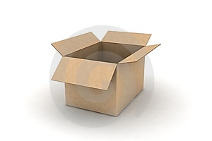 Empty Cardboard - Isolated Illustration Royalty Free Stock Image - Image: 8515256
