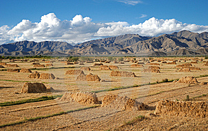 Field Of Haystacks Royalty Free Stock Photos - Image: 8515838