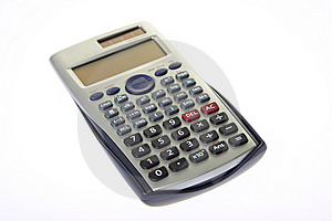 Scientific Calculator Isolated On A White Stock Image - Image: 8516511