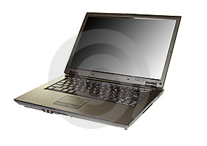 Modern Laptop Isolated On A White Stock Images - Image: 8516524