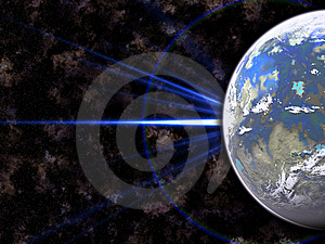 Planet In Outer Space Royalty Free Stock Photography - Image: 8517207