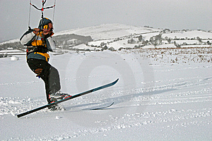 Kite Skiing Stock Images - Image: 8517554