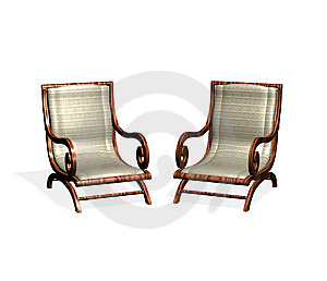 Two Isolated Armchairs Royalty Free Stock Images - Image: 8517629