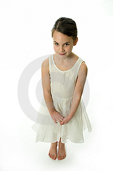 Little Girl With Smiling Expression Royalty Free Stock Photo - Image: 8518175