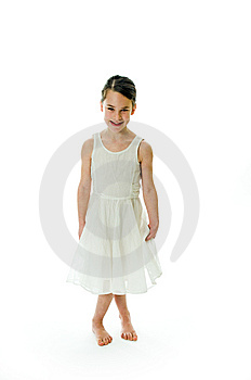 Little Girl With Smiling Expression Stock Photos - Image: 8518463