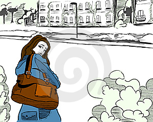 Woman On The Street Royalty Free Stock Photography - Image: 8518487