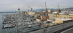Genova Harbour Panoramic Shot Stock Image - Image: 8518761