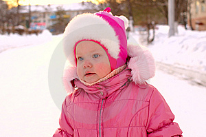 Pretty Little Girl In Winter Outerwear. Royalty Free Stock Image - Image: 8519136