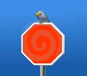 Bird And Stop Royalty Free Stock Photography - Image: 8519217