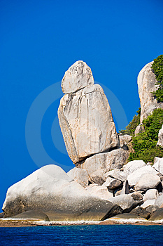 Unusual Rock Formations Along The Coast Stock Photo - Image: 8519330