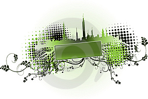 City Background Vector Stock Image - Image: 8520741