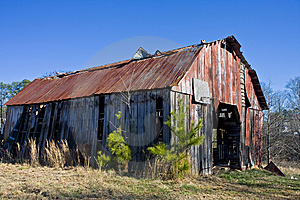 Old Barn With Rusty Roof Stock Image - Image: 8520931