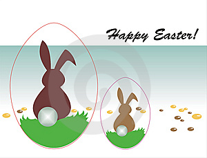 Happy Easter Greeting Card Stock Photography - Image: 8520972