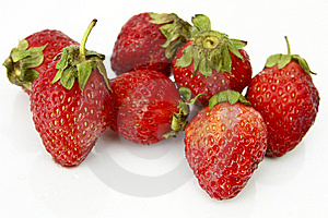 Strawberries Over White Background Royalty Free Stock Photography - Image: 8521117