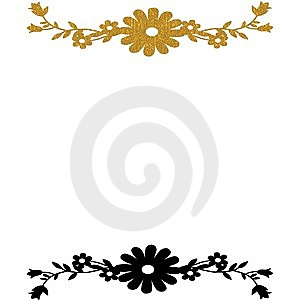 Gold Black Floral Background Royalty Free Stock Photo - Image: 8521145