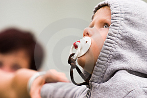 Very Serious Little Baby. Stock Photo - Image: 8522710