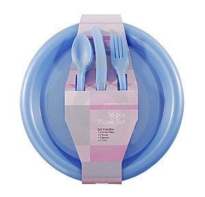 Blue Plastic Set Royalty Free Stock Image - Image: 8523246