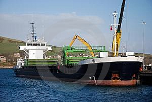 Cargo Ship. Royalty Free Stock Photo - Image: 8523485