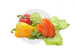 Yellow, Red And Orange Pepper Stock Photography - Image: 8523602