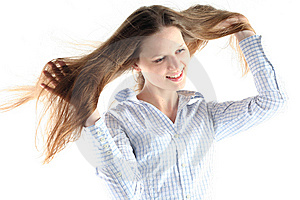 Windswept Exhilaration Royalty Free Stock Photography - Image: 8523827