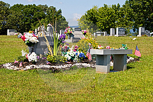 Highly Adorned Cemetery Plot Stock Photo - Image: 8523880