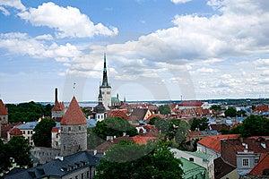 Center Tallinn Sikt Arkivbilder - Bild: 8524004