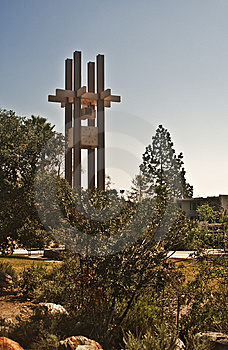 Clock Tower At Pitzer College Stock Photography - Image: 8524082