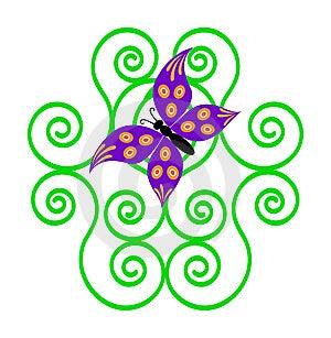 Farfalla Graziosa Immagini Stock - Immagine: 8524414