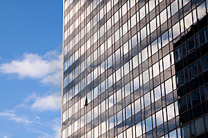 Reflections In Office Building 2 Stock Images - Image: 8525194