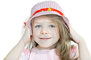 Close-up Portrait Of Smiling Grey-eyed Blonde Girl Royalty Free Stock Photography - Image: 8525227