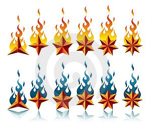Stars&flames Royalty Free Stock Photography - Image: 8525467