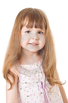 Little Girl On White Background Stock Images - Image: 8525614