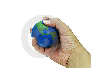 Grasping The Earth Stock Image - Image: 8525931