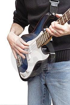 Playing Bass Guitar Royalty Free Stock Image - Image: 8526116