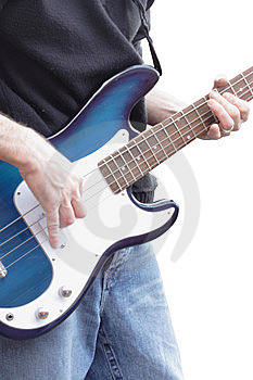 Playing Bass Guitar Stock Photography - Image: 8526132