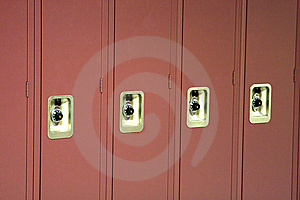 Red School Lockers Stock Images - Image: 8526304