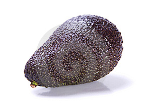 Avocado  On White Background Royalty Free Stock Image - Image: 8527116