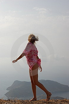 Girl In The Wind Stock Image - Image: 8527651
