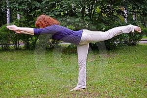 Yoga On The Nature Royalty Free Stock Photo - Image: 8527745