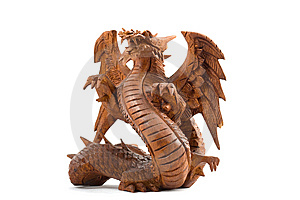 Wooden Dragon Stock Photo - Image: 8527860