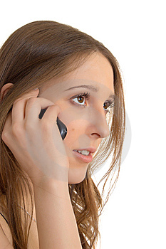 Talking On Cell Phone Stock Photos - Image: 8527983
