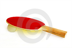 Ping Pong Racket Stock Image - Image: 8528231